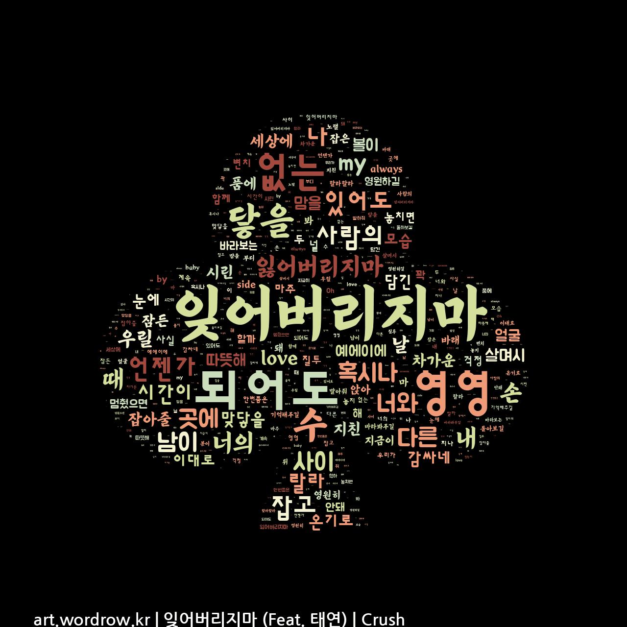 워드 아트: 잊어버리지마 (Feat. 태연) [Crush]-24
